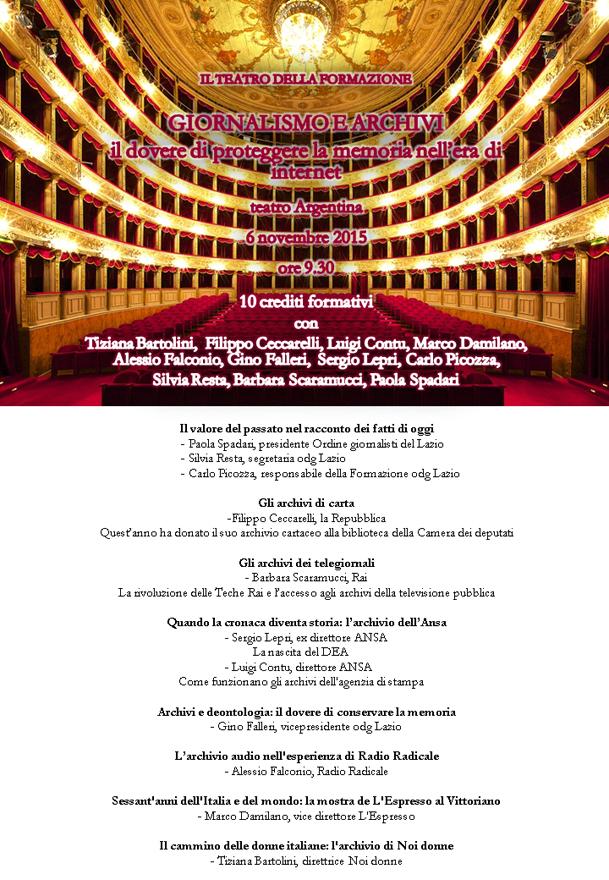 Teatro Argentina locandina