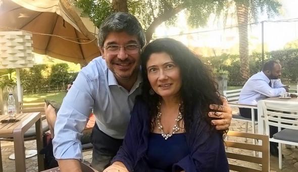 Antonella Napoli con l'ambasciatore Fabrizio Lobasso